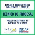 LLAMADO A CONCURSO PÚBLICO PARA PROVEER EL CARGO DE TÉCNICO DE PRODESAL