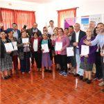 CERTIFICAN A USUARIOS DEL PROGRAMA FAMILIAS TRAS PARTICIPAR EN CAPACITACIONES