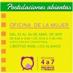 ABREN INSCRIPCIONES PARA POSTULAR AL PROGRAMA DE 4 A 7 MUJER, TRABAJA TRANQUILA