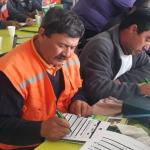 TRABAJADORES PRO EMPLEO Y PMU SE CAPACITAN EN LA FORMACIÓN DE BRIGADAS DE EMERGENCIA