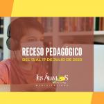 EL RECESO PEDAGÓGICO EN LOS ÁLAMOS SERÁ DE UNA SEMANA
