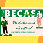 SE ABRIÓ EL PROCESO DE RECEPCIÓN DE ANTECEDENTES PARA POSTULANTES A LA BECA MUNICIPAL 2021